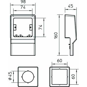 SKL-Z DBU, Geräteträger 1-fach mit Zentralscheibe, PVC, buche