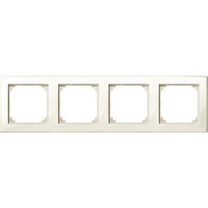 M-SMART-Rahmen, 4fach, weiß glänzend