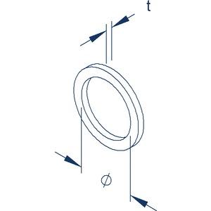 987PERB/16, Dichtring für Anschlussgewinde Pg 16, Höhe 2 mm, Elastomere NBR, Farbe schwarz