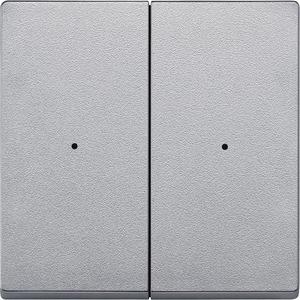 Wippen für Taster-Modul 2fach, aluminium, System M