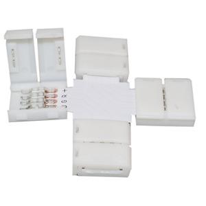 Verbinder Kreuz Flexible LED 5050 4-polig 5er Set, Verbinder Kreuz Flexible LED 5050 4-polig 5er Set