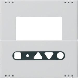 Abdeckung RT-Regler Uhr WUC74/76, bweiß