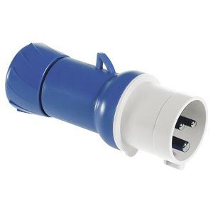 CEE Stecker, Schraubklemmen, 32A, 3p+E, 200-250 V AC, IP44
