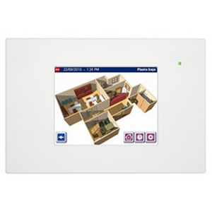 DW-HC2-KNX-W, Iddero HC2-KNX 7 TOUCH PANEL, mit integriertem Web Server und Video-Türsprechanlage Funktion mit Frontrahmen in weiß