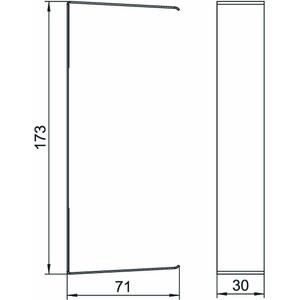 G-SVS70170RW, Stoßstellenabdeckung 70x170x30mm, St, reinweiß, RAL 9010