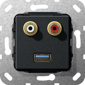 C-Audio USB 3.0 A K-Peitsche Einsatz Schwarz m