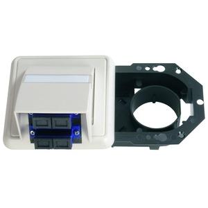 LWL-Anschlussdose OAD 1-fach mit 2xSC-D, montiert alpinweiß