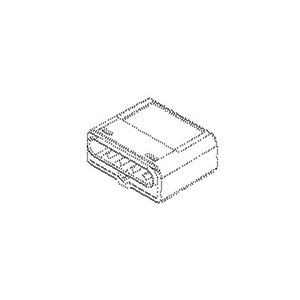 2002/2.5/4, Schraubenlose Verbindungsklemme, Klemmbereich 1,0-2,5 mm², Kunststoff PA, RAL 5010, enzianblau