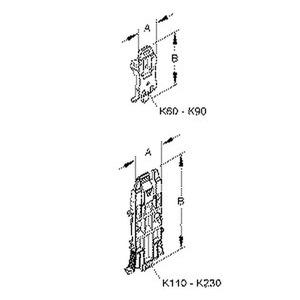 K150, Halteklammer, Breite 136 mm, Länge 37,5 mm, Kunststoff POM, RAL 5010, enzianblau