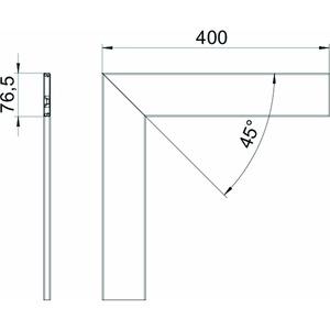 GK-OTGFRW, Oberteil Flachwinkel, glatt, PVC, reinweiß, RAL 9010