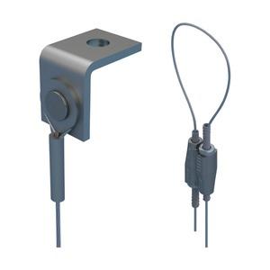 SLK2L3AB, nVent CADDY Speed Link SLK mit Winkelanschluss, 2 mm Stahlseil, 3 m (9,9') Länge
