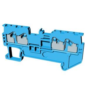 XW5T-P1.5-2.2-1BL, Reihenklemme, Vierfach-Anschluss, DIN-Hutschiene, TS 35, 1mm², Push-In Plus, blau