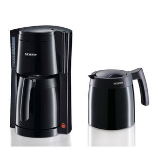 Kaffeeautomat mit 2 Thermokannen, schwarz