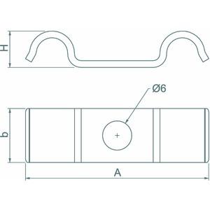 1015 D 10 G, Befestigungsschelle für 2 Kabel 10mm, St, G