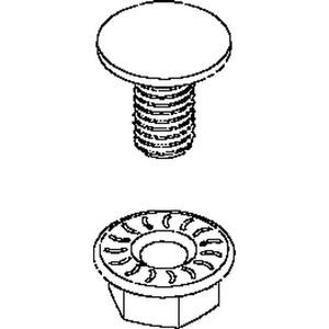 FLM 8X16 E3, Flachrundkopfschraube M8 ähnlich DIN 603, Länge 16 mm, Edelst. Werkstoff-Nr.: 1.4301,1.4303, m. verz. Flanschmutter