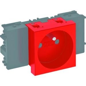 STD-F0C SRO1, Steckdose 0°, 1-fach mit Erdungsstift, Connect 45 250V, 10/16A, PC, signalrot, RAL 3001