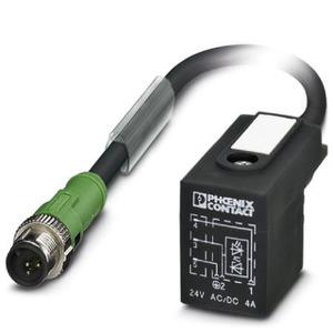 SAC-3P-MS/ 0,6-PUR/B-1L-Z SCO, Sensor-/Aktor-Kabel, 3-polig, Kabellänge 0,6 m