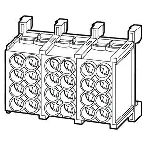 HLAC25-22, Hauptleitungs-Abzweigklemme 25 mm², 37x50,5x23 mm, 2 Pole, Kunststoff PA, RAL 7035, lichtgrau