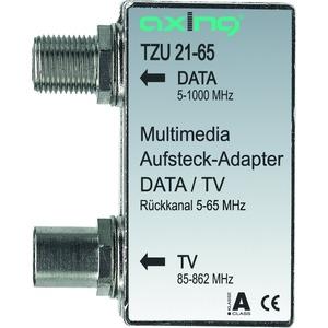 Multimedia-Aufsteckadapter, IEC-Buchse, 5-1006 MHz, Rückkanal 5-65 MHz, 3,5 dB