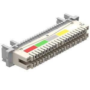 LSA-T-LEI, Trennleiste 10 Doppeladern für LSA Plus 40-polig, weiß