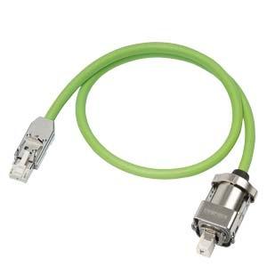 6FX8002-2DC10-1BA0, Signalleitung, konfektioniert Typ: 6FX8002-2DC10 Drive-CLiQ mit 24V Stecker RJ45 IP20 auf Modulseite und IP67 auf Motorseite MOTION-CONNECT 800PLUS fr