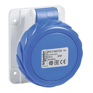 CEE Anbausteckdosen Schneidklemmen, 16A, 3p+E, 200-250 V AC