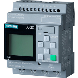 6ED1052-1MD08-0BA0, LOGO! 12/24RCE, Logikmod., Disp SV/E/A: 12/DC 24V/Relais, 8DE (4AE)/4DA, SP. 400 Blöcke, modular erweiterbar, Ethernet, integr. Web-Server, Datalog, b