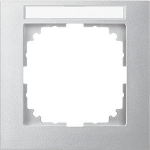 M-Pure-Rahmen, 1fach mit Beschriftungsträger, aluminium, M-Pure