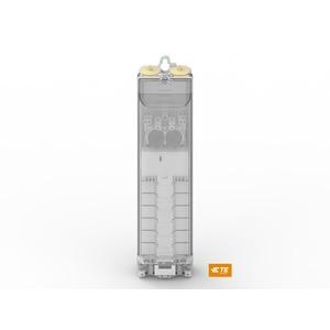 EKM-2051-2D1-5S/U-2SA-E1, Sicherungskasten für 2 Sicherungen, 5 Schiebeklemmen, mit 2 Ü-Schutzbausteinen