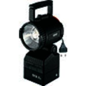 1 1147 000 001, Ex-Handscheinwerfer SEB 8 L für 4.8 V/7 Ah ladbare NC-Batteriemit Halogen-Hüllkolbenlampe, Nebenlicht-Glühlampe, Streulinse und Batterie (ladbar direk