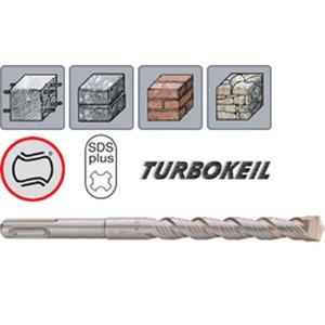 253 100 210, SDS-plus Hammerbohrer TURBOKEIL mit MS5 Spirale mit SDS-Plus Schaft 10 x 210 mm