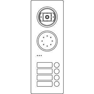 Acero Edelstahl-Türstation Video, 4 WE, Video, Edelstahl