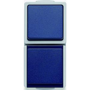 HFRKOMBSTDWSAUS IP54, Kombination senkrecht Steckdose/Aus-/Wechselschalter