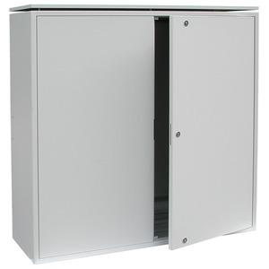 LGH 97, Montageschrank 1000 x 970 x 380 mm, 2-türig, Stahlblech, mit Lüfter, Erdungsschiene und Stromverteilung
