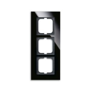 1723-825, carat Abdeckrahmen 1723-825 3-fach Glas schwarz