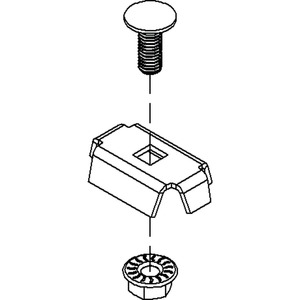 GRVC 14 E3, Trennstegbefestigungsklemme, Edelstahl, Werkstoff-Nr.: 1.4301, 1.4303, inkl. Zubehör