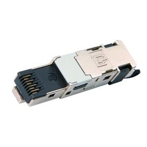STX IP20 RJ45 feldkonfektionierbarer Stecker AWG22-26 Cat.6 Class EA(IEC) schwarz
