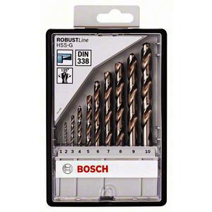 10tlg. Robust Line Metallbohrer-Set HSS-G, 135°, Metallbohrer-Set Robust Line HSS-G, DIN 135, 135°, 10-teilig, 1 - 10 mm