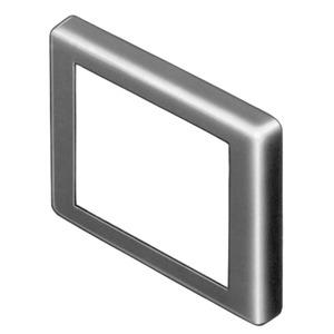 Frontrahmen schwarz flach 24x36 Ks