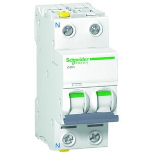 Leitungsschutzschalter iC60H, 1P+N, 63A, B Charakteristik