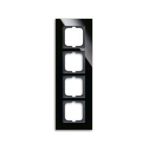 1724-825, carat Abdeckrahmen 1724-825 4-fach glas schwarz