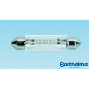 LED-Soffitten 11x43mm 12-14V AC/DC 0,25W 2 Chip weiss S8