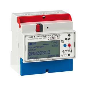 KNX Elektrozähler EMU Superior, 3-Phasen, 75A, direktmessend, 5 TE;