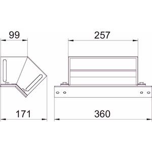 BSKM-EF 1025RW, Etage fallend für abgehängte Montage 100x250, St, L, reinweiß, RAL 9010