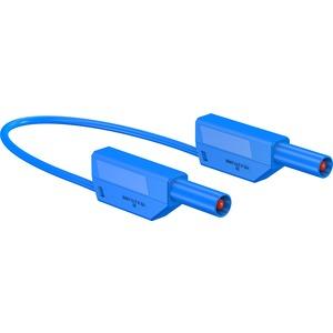 SLK425-E, 4mm Sicherheits-Messleitung 25cm blau