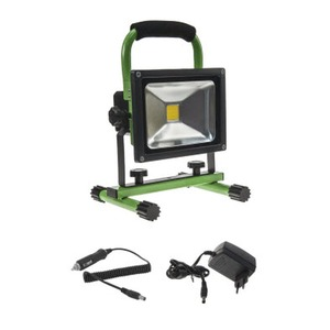 LED Portable Green 20W 4000K Dimm (Battery = replaceable)