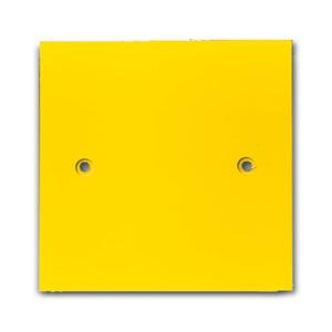 0239-0-0087, Abdeckplatte, gelb, Alu-Druckguss/Sondergeräte, Energieversorgungseinheit EVE