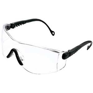 Einscheiben-Schutzbrille blau mit widerstandfähiger Polycarbonatlinse