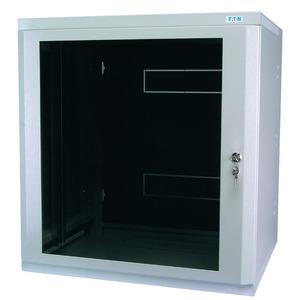 NWE-4B06/GL/ZS, Wandgehäuse, 19 Zoll, 3-teilig, T=400mm, HE6, Tür, Glas, +Zylinderschloss