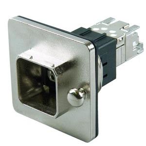 STX V14 Zentralverschr.-Flanschset, Metall, RJ45 Modul A Cat.6A(IEC), runder Mon.-aus.